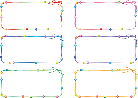 Thong frame set (beads)