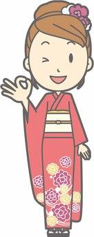 Kimono female a - okey - whole body