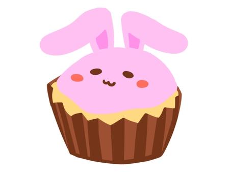 White rabbit cupcake