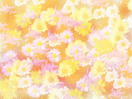 Background material Airbrush Flower Pink orange
