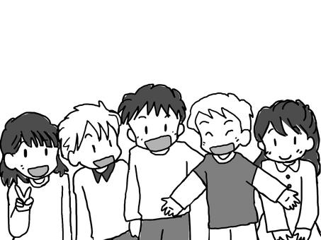 Çocuklar (siyah-beyaz)