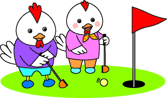 Chickens and park golf 2