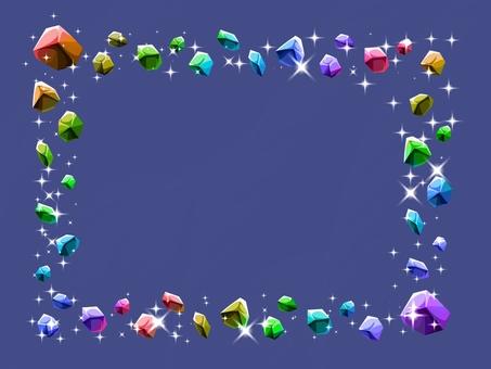 カラフル宝石フレーム