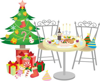 크리스마스 파티 테이블