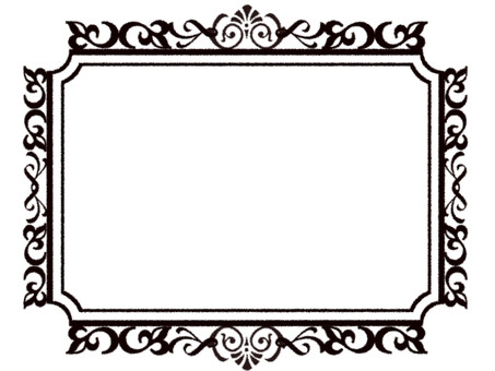 Brand-new style frame without background