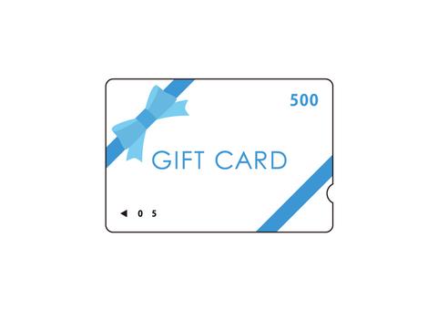 Gift card 500 yen