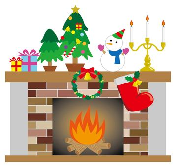 Christmas and fireplace