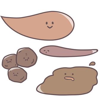 Various poo