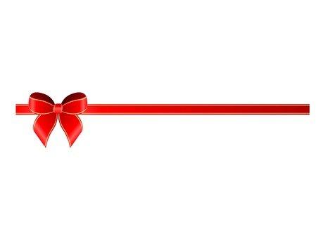 Small ribbon (red)