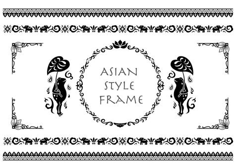 Asian style frame 2 (black)
