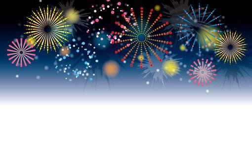 Decorative frame of fireworks