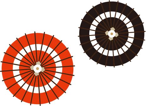 Umbrella red and black