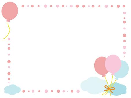 Balloon decorative frame