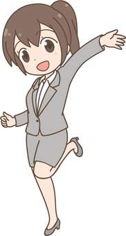 Anime women | OL | Suit | Greeting