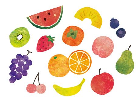 油彩フルーツ