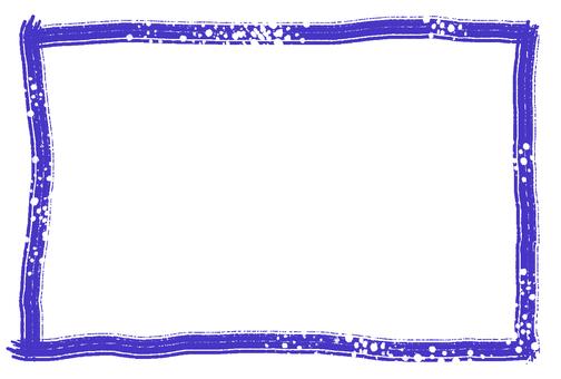 Simple frame indigo