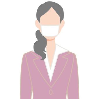 Mask Person icon Female upper body