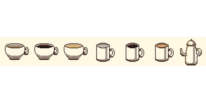 Dot picture cafe set
