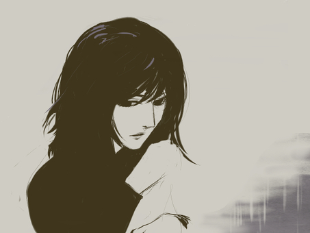 鬱っぽい女性