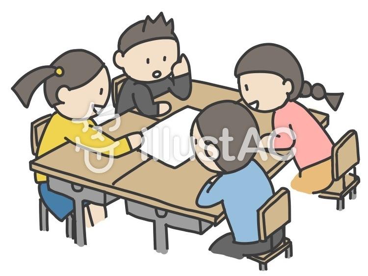 グループ学習する子ども2イラスト No 947167無料イラストなら