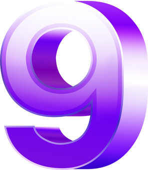 ai Number with stereoscopic effect 9