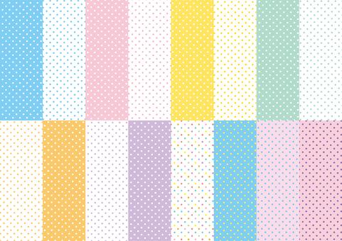Pastel color spots