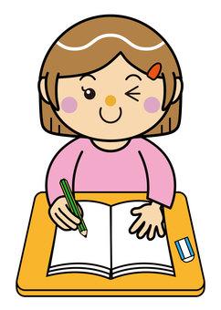 Girl 13_03 (studying)