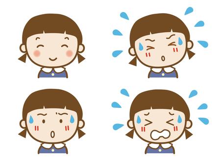 Girl expression set