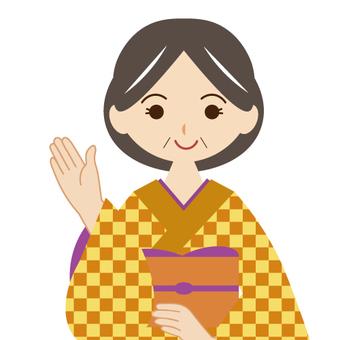 Teacher / instructor of kimono dressing classroom