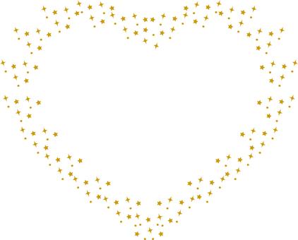 Glitter a heart <gold>