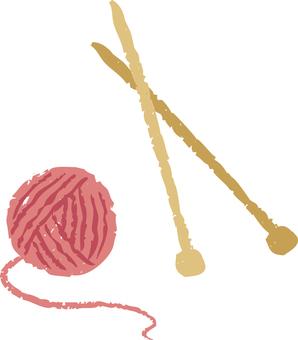 紗線和桿針