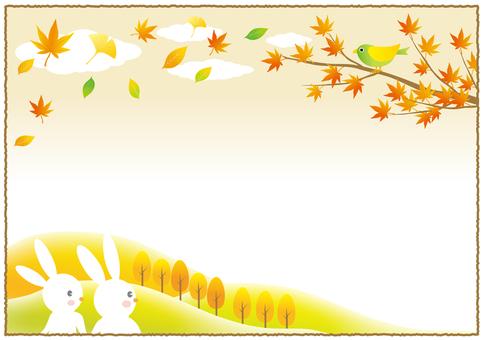 Couple with autumn landscape