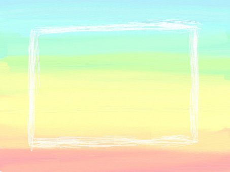 Pastel rainbow colored frame
