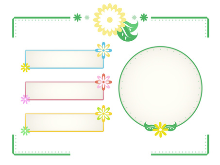 An assortment of flower and leaf frames