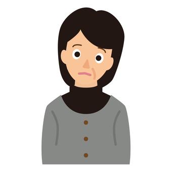 Worried, worried lady