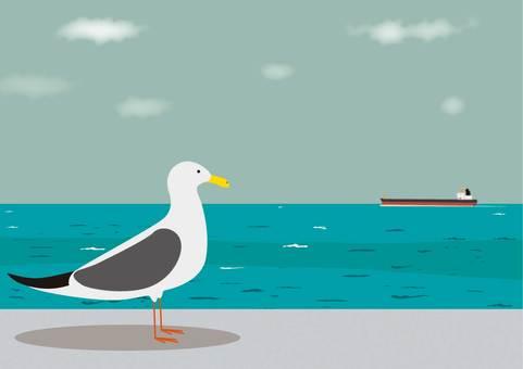 Seagulls and summer seas