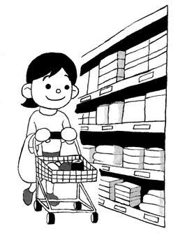 Mom shopping