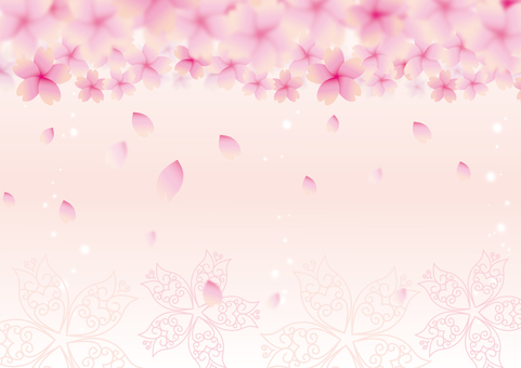 날리는 벚꽃 배경