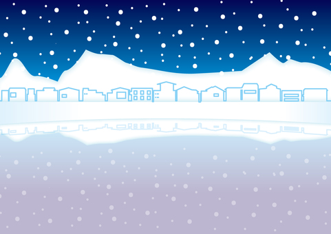 Snow and ice town