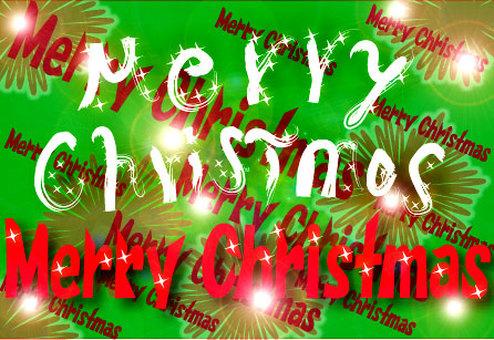 Christmas bustling card