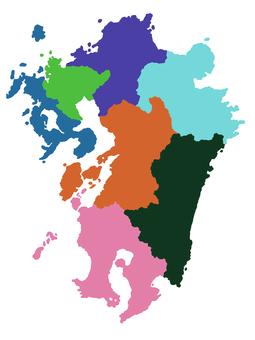 Kyushu region map