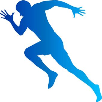 Runner _ Silhouette _ Blue _ Gradet