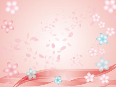 벚꽃 & 벚꽃 눈보라 (분홍색)