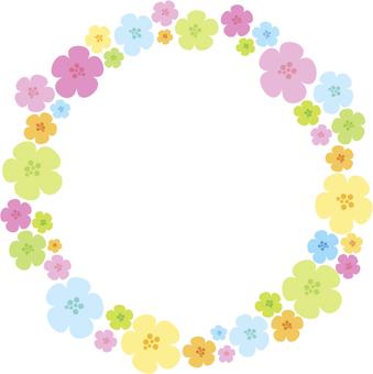 꽃 프레임 원