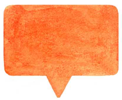 Watercolor balloon square orange