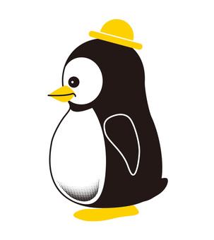 Penguin character horizontal position