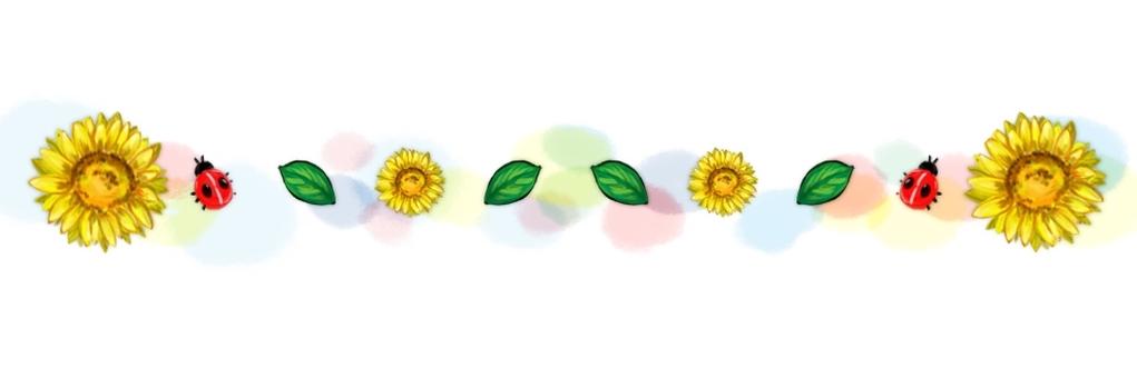 Sunflower line illustration