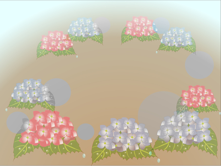 Misty hydrangea 1600 × 1200 px