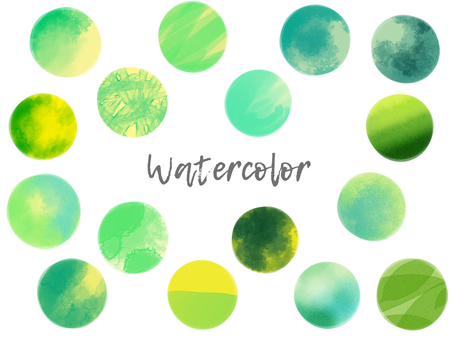 Watercolor material set 04 / green