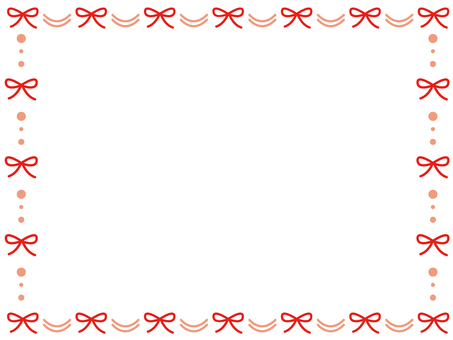 Ribbon decoration frame 2